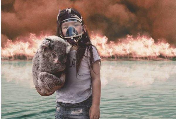 Incendies en Australie : Un photomontage d'une fillette fait le buzz sur internet